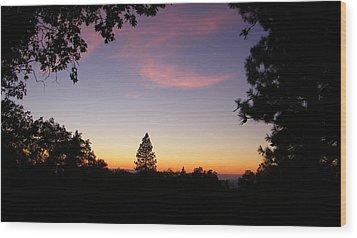 Framed Pink Clouds Wood Print by Tom Mansfield