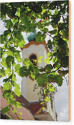 Wood Print featuring the photograph Framed Steeple by KG Thienemann