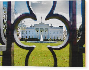 Framed Whitehouse Wood Print by Greg Fortier