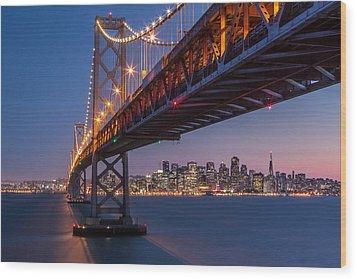 Framing San Francisco Wood Print by Mihai Andritoiu