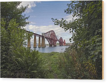 Framing The Forth Bridge Wood Print by Ross G Strachan
