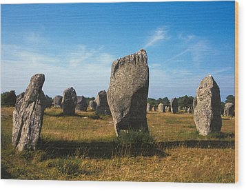 France Brittany Carnac Ancient Megaliths  Wood Print by Anonymous