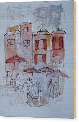 France Wood Print by Sonja  Zeltner
