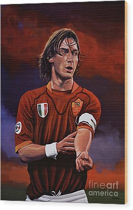Francesco Totti Wood Print by Paul Meijering