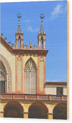Franciscan Monastery In Nice France Wood Print by Ben and Raisa Gertsberg