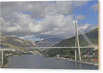 Franjo Tudman Bridge Wood Print by Tony Murtagh