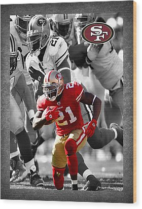 Frank Gore 49ers Wood Print by Joe Hamilton