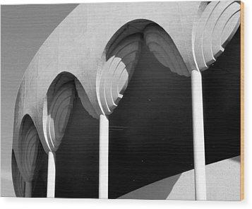 Frank Lloyd Wright Designed Auditorium Detail Wood Print by Karyn Robinson