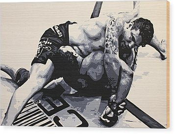 Frank Mir V Big Nog Wood Print