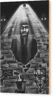Frank Ocean Pyramids Inspired Wood Print by Kenal Louis