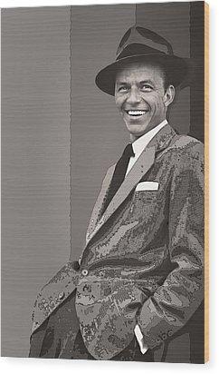 Frank Sinatra Wood Print by Daniel Hagerman