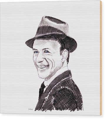 Frank Sinatra Wood Print by Martin Howard