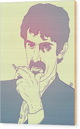 Frank Zappa Wood Print by Giuseppe Cristiano