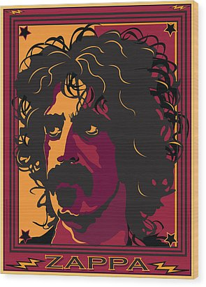 Frank Zappa Wood Print by Larry Butterworth