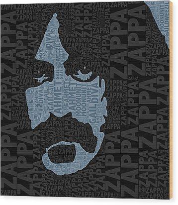 Frank Zappa  Wood Print by Tony Rubino