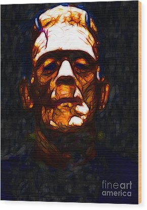 Frankenstein - Abstract Wood Print by Wingsdomain Art and Photography