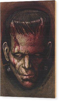 Frankenstein  Wood Print by David Shumate