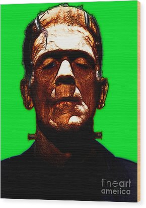 Frankenstein - Green Wood Print by Wingsdomain Art and Photography