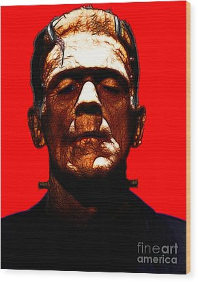 Frankenstein - Red Wood Print by Wingsdomain Art and Photography