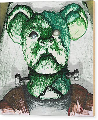 Frankenstein's Koala Wood Print by Del Gaizo