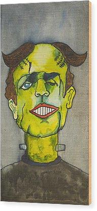 Frankensteins Monster As Tillie Wood Print by Patricia Arroyo