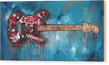 Frankenstrat Wood Print by Sean Parnell