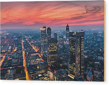 Frankfurt 04 Wood Print by Tom Uhlenberg