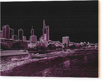 Frankfurt Purple Wood Print by Adam  S
