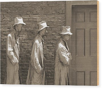 Franklin Delano Roosevelt Memorial - Bits And Pieces1 Wood Print by Mike McGlothlen