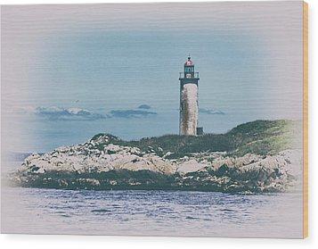 Franklin Island Lighthouse Wood Print by Karol Livote
