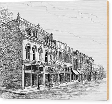 Franklin Main Street Wood Print by Janet King