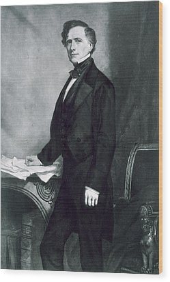 Franklin Pierce Wood Print by George Healy