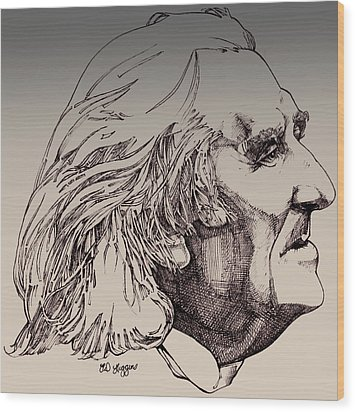 Franz Liszt Wood Print by Derrick Higgins