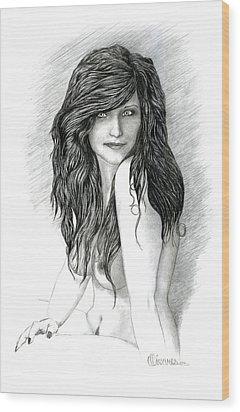Fraulein 2 Wood Print