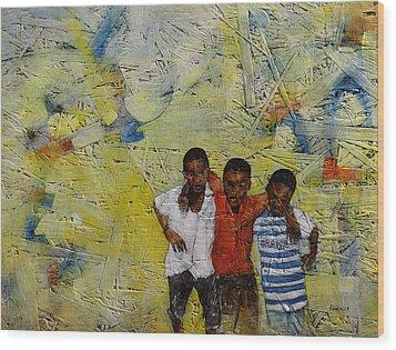 Frds Wood Print by Ronex Ahimbisibwe