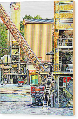 Wood Print featuring the photograph Fred And Barney At Work The Quarry At Ashcom Pa by Mary Beth Landis