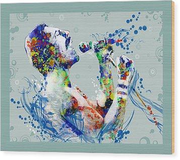 Freddie Mercury 10 Wood Print by Bekim Art