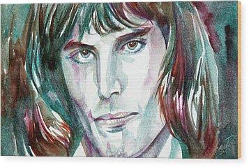 Freddie Mercury Portrait.2 Wood Print by Fabrizio Cassetta