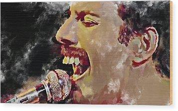 Freddie Mercury Queen 4 Wood Print