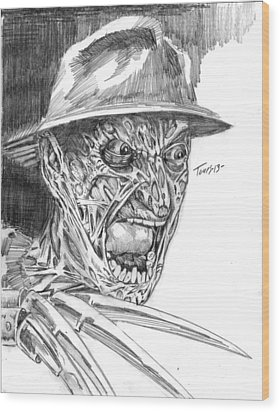 Freddy Wood Print by Christopher Torres