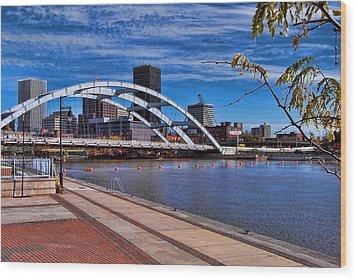 Frederick Douglas-susan B Anthony Bridge Rochester Ny Wood Print