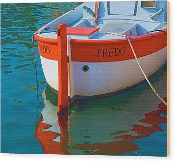 Fredo Wood Print by Joan Herwig