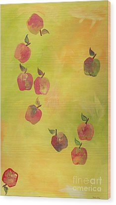 Free Apples Wood Print by PainterArtist FIN