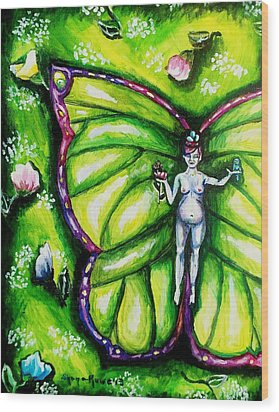 Free As Spring Flowers Wood Print by Shana Rowe Jackson