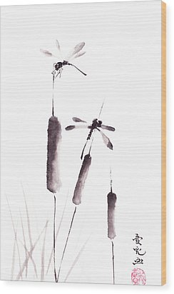 Free As The Dragonflies Wood Print by Oiyee At Oystudio