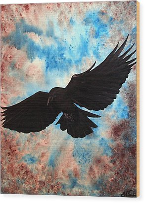 Wood Print featuring the painting Free Bird by Oddball Art Co by Lizzy Love