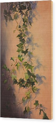 Free Flow Wood Print by Debbie Lamey-MacDonald