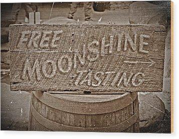 Free Moonshine Wood Print