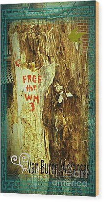 Free The West Memphis 3 Wood Print by Joshua Brown