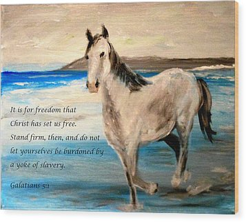 Freedom Wood Print by Amanda Dinan